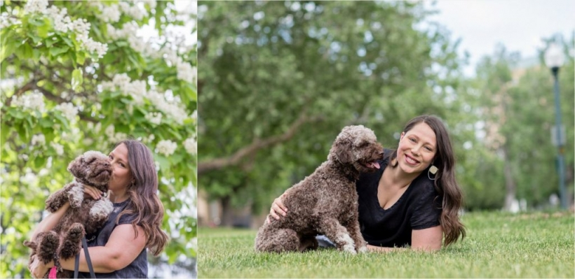 portrait session of you and your pet